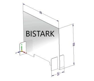 XK500A23 - Schermo Protettivo Trasparente 89 x 69 cm - Made in Bistark