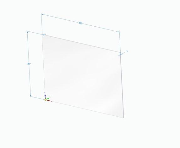 XDX500A03 - Targa in plastica formato A3 personalizzabile con la vostra grafica